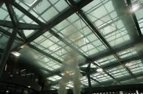 Rauchversuch im Atrium – Neubau der Hauptverwaltung der RheinEnergie AG